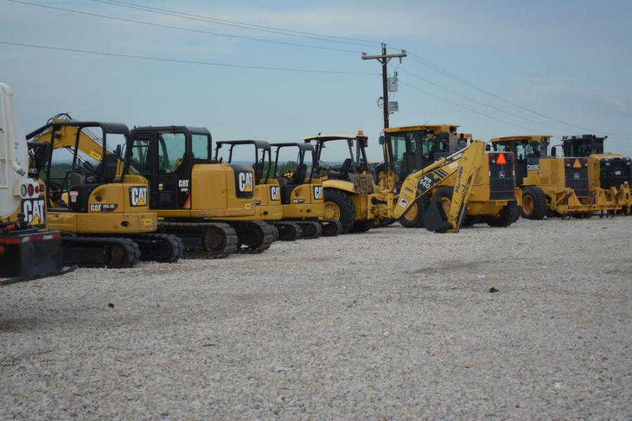 LSR Equipment maintains a huge inventory of Caterpillar equipment.