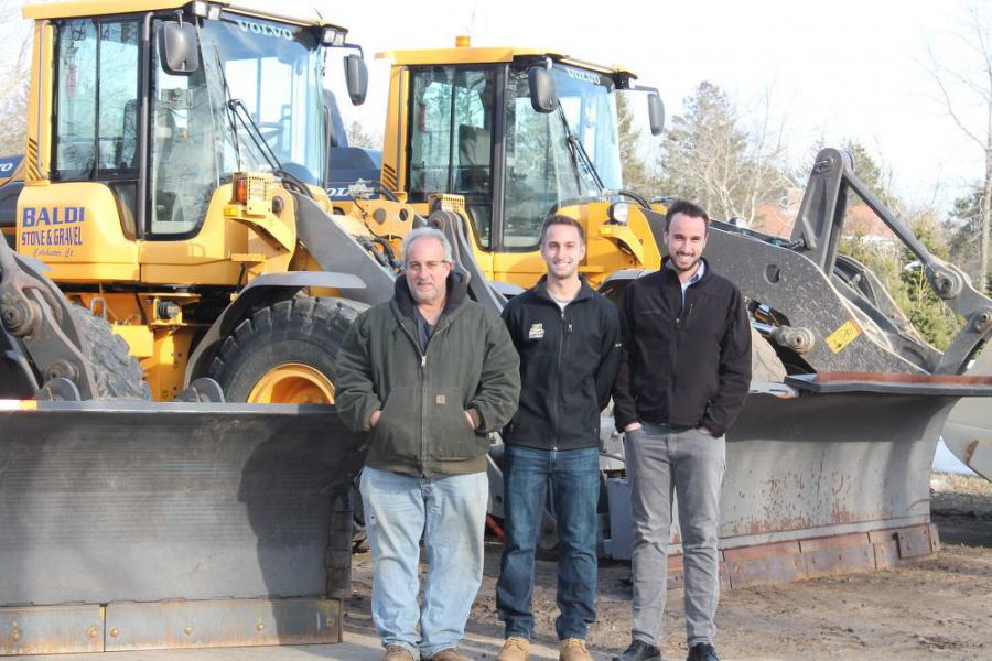 (L-R) are Richard Baldi, founder and owner of  Baldi Stone & Gravel and his two sons, Nate and Clayton.