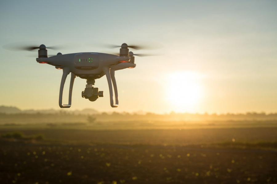 Drones could offer time and safety advantages for road work.