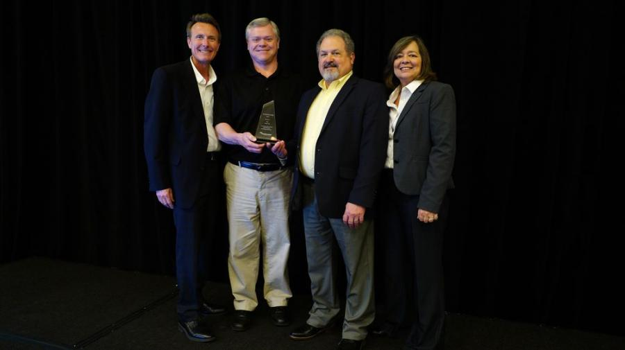 supplyFORCE honors Irby with the 2018 TCO Excellence award.