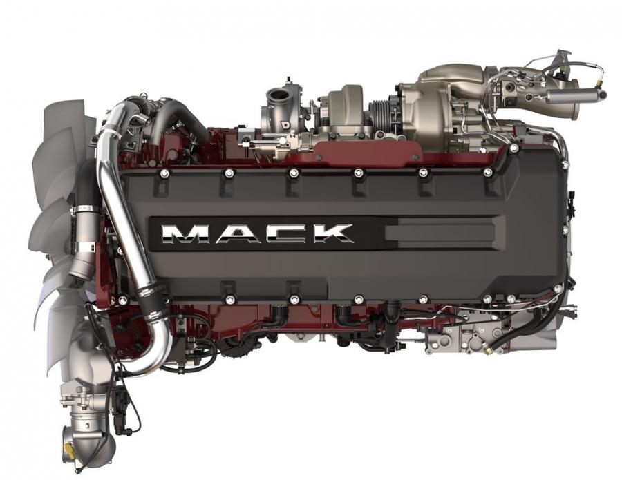 Mack Trucks introduced the Mack MP8HE 13-liter engine and the Mack HE+ package for Mack Anthem models to help customers realize maximum fuel efficiency. Mack Anthem models spec'd with the MP8HE engine and HE+ package deliver up to a 9.5 percent improvement in fuel efficiency and achieve the U.S. Environmental Protection Agency's SmartWay designation.