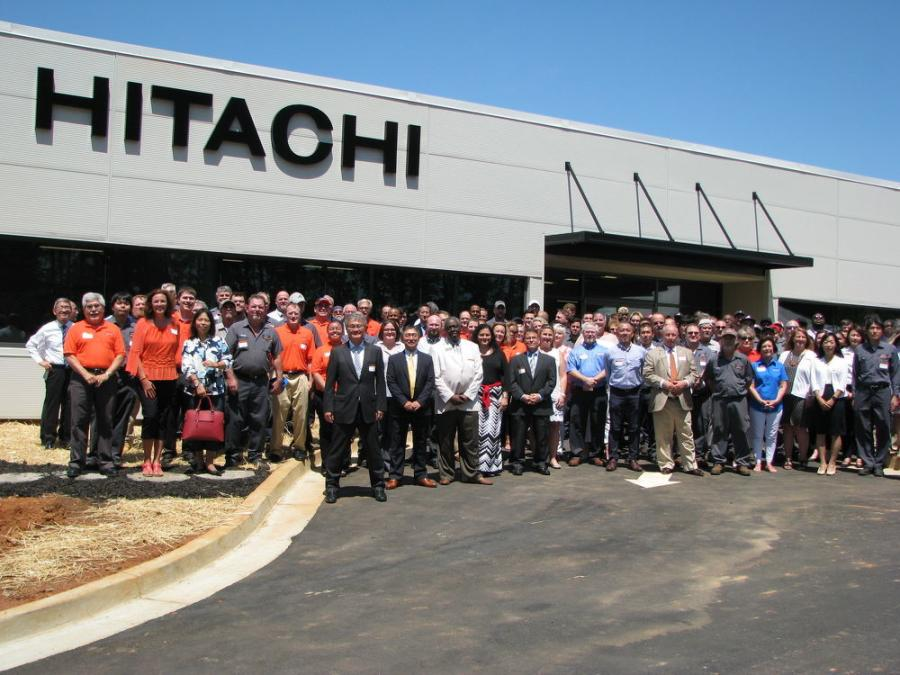There was a huge turnout for the ribbon-cutting and official opening ceremonies for Hitachi Construction Machinery Loaders America Inc. corporate headquarters facility in Newnan, Ga.