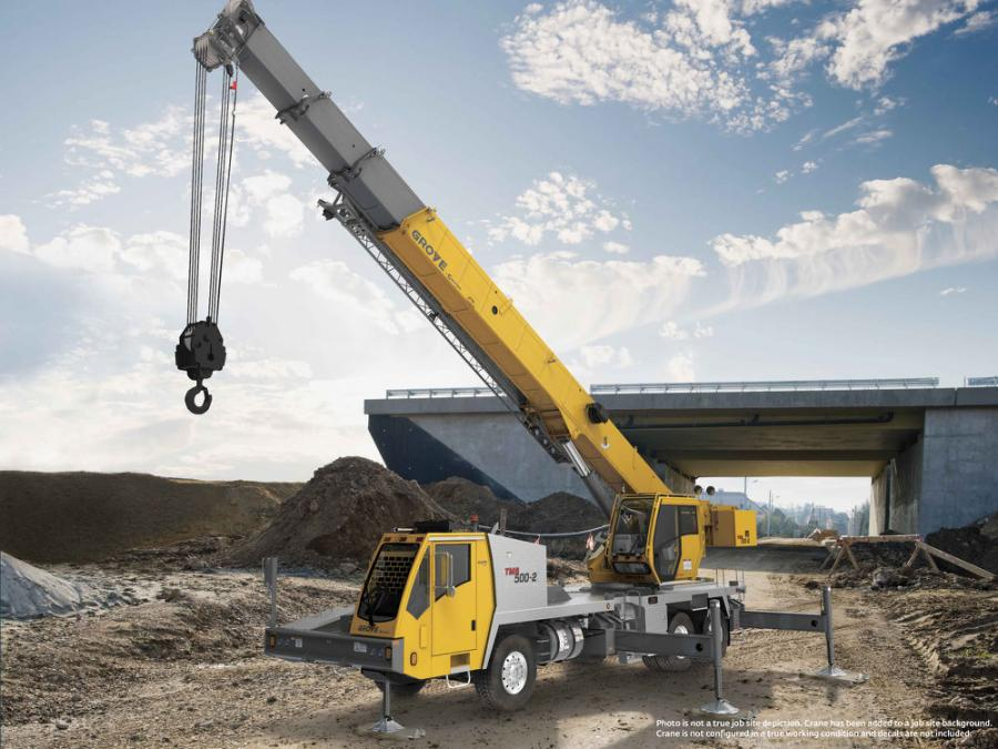The new 40-ton capacity TMS500-2 features the quick set up and versatile taxi capabilities expected from a truck crane in this class.