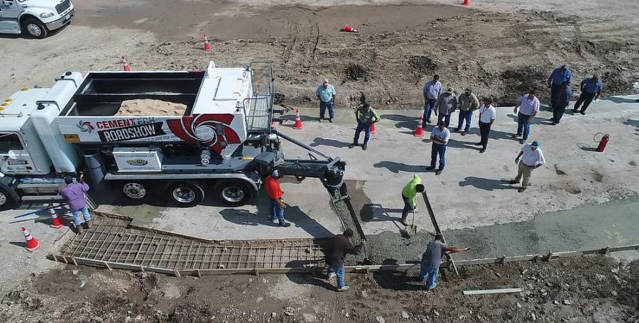 Both Roadshows (San Antonio seen here) featured demos that showcased fast-setting concrete, flowable fill and typical concrete production.