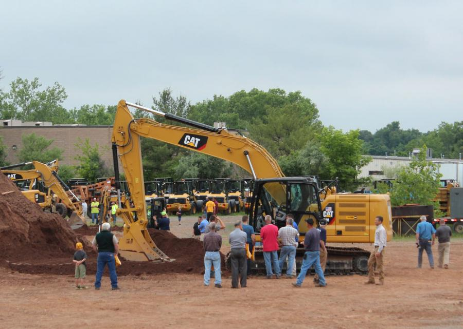 This Cat 320 Next Generation Excavator, available in the demonstration area for hands-on use, was equipped with Caterpillar Grade Control System. Grade Control System is available in various packages designed to fit the diverse needs and expectations of individual contractors.