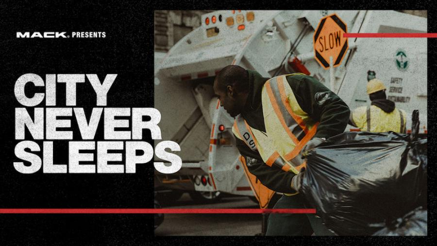 "New York City's truck drivers — from those who pick up the trash and plow snow to those who repair roads and deliver goods to stock shelves — are the focus of ""The City Never Sleeps,"" the first installment of RoadLife, a series of docu-style videos from Mack Trucks airing on RoadLife.tv."