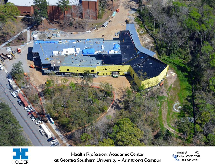 Georgia Southern University broke ground on August 29, 2017, for the new $22 million facility that will house the Waters College of Health Professions in Savannah.