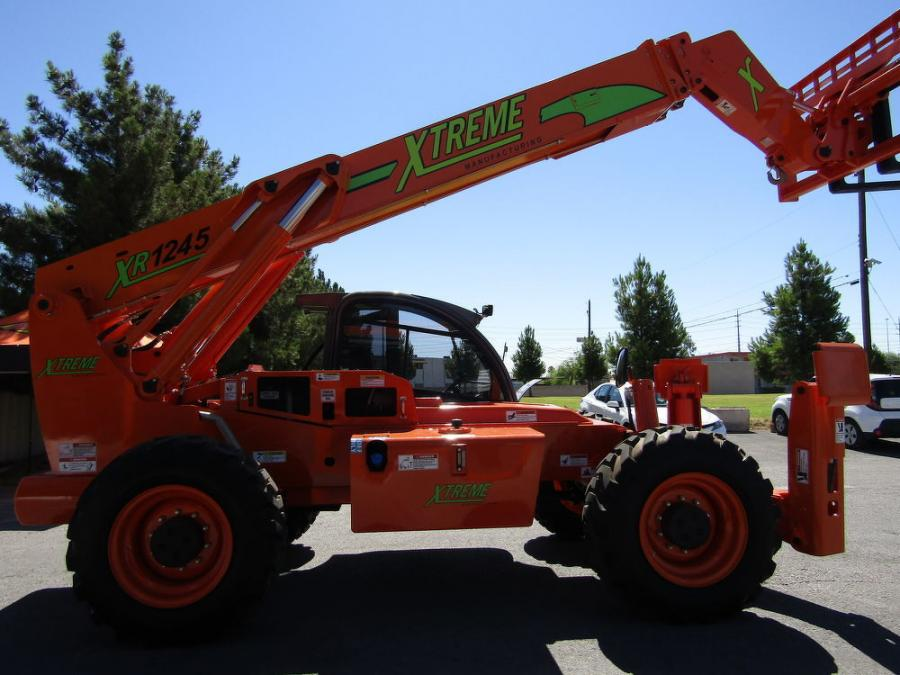 An XR1245 Xtreme telehandler greeted customers at the front gates.
