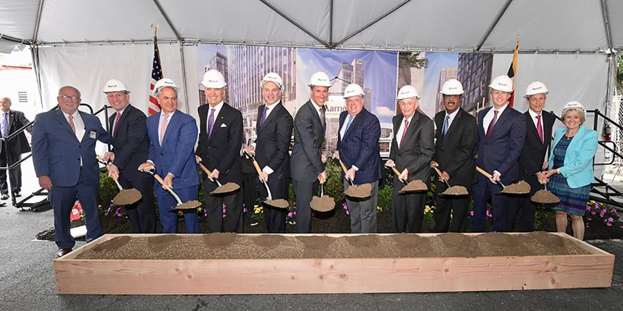 The Bernstein Companies and its joint venture partner Boston Properties marked a significant milestone as it broke ground on the future Marriott International headquarters and Marriott Hotel in downtown Bethesda, Md.