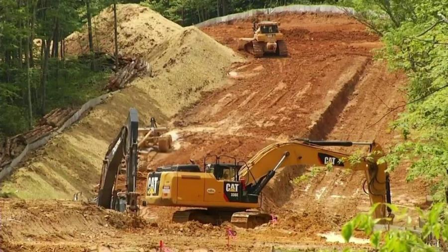 Construction on the $3.5 billion, 300-mi. Mountain Valley Pipeline has been halted to address some soil erosion problems.