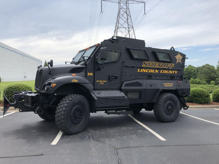 The MRAP vehicle was formally presented to the Lincoln County Sherriff's Office on June 11, 2018.