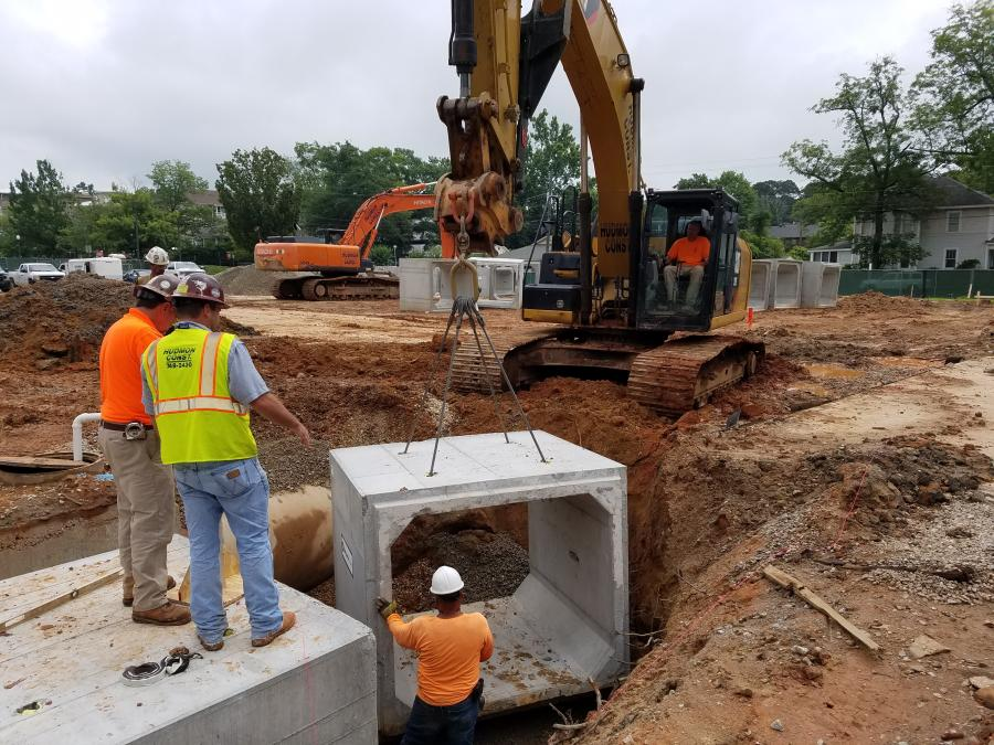 Main equipment used on the job will include track excavators, loaders, truck cranes, scaffolding, scissor lifts, a boom hoist and other machines standard for this type construction.