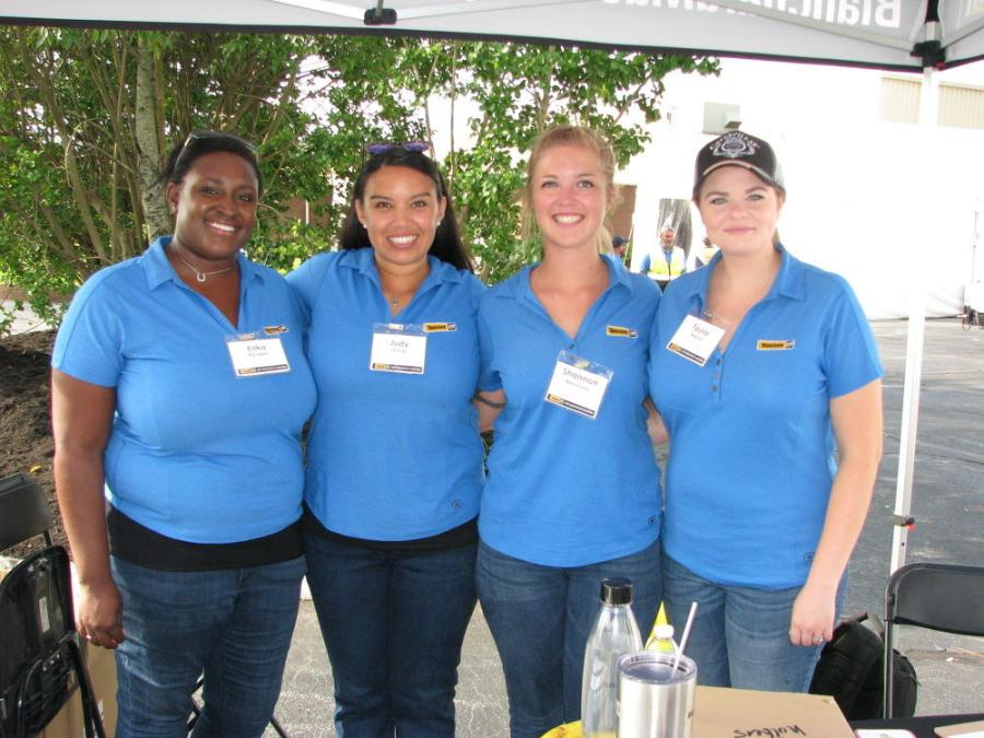 The team that ensured the demo events were flawless includes: (L-R): Erika Bordwell, Judy Shriner, Shannon Beardslee and Taylor Roland.