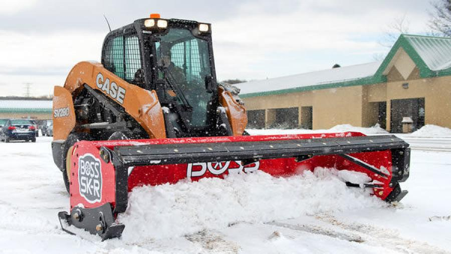 The durable, rubber-edged SK-R collection for skid steers offers quieter plowing operation and protection for sensitive surfaces.