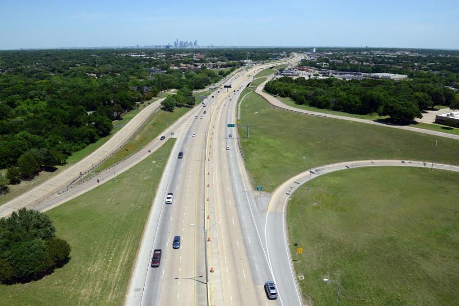 The HOV lanes along I-35E and U.S. 67 are closed project-wide to begin the conversion into reversible non-tolled managed express lanes.