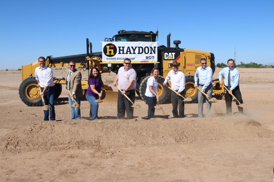 A groundbreaking ceremony was held for Gilbert's Mega Park recently. (L-R) are Jacob Ellis, deputy town manager; Patrick Banger, town manager; Brigette Peterson, vice mayor; Jordan Ray, councilmember; Jenn Daniels, mayor; Eddie Cook, councilmember; Denny Barney, Maricopa County supervisor District 1; Rod Buchanan, former Parks and Recreation director.