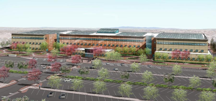 Construction has started on the multimillion-dollar New Mexico complex that will serve as a new workspace for some 1,200 employees.