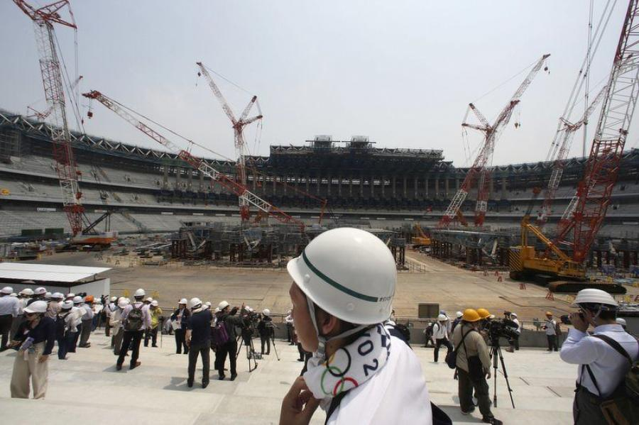 The Japan Sports Council has reported that construction is 40 percent complete on Olympic venues for 2020. (Photo courtesy of AP)
