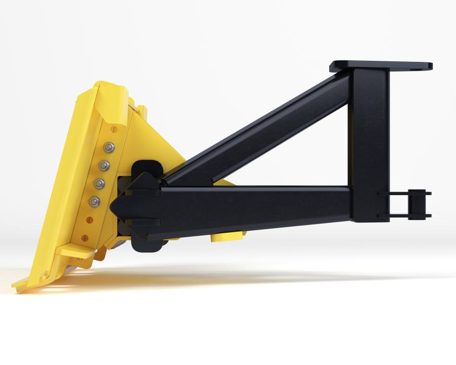 FlexFrame has a rubber torsion compartment built into the A-Frame assembly allowing a snowplow to follow the plowing surface and maintain contstant down pressure on the snow plow's cutting edge.
