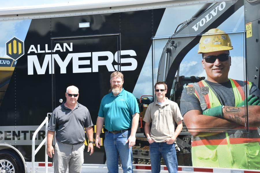 (L-R) are Bill McGowan, Allan Myers; Danny Freeman, Volvo CE; and Andrew Hoffman, Allan Myers.