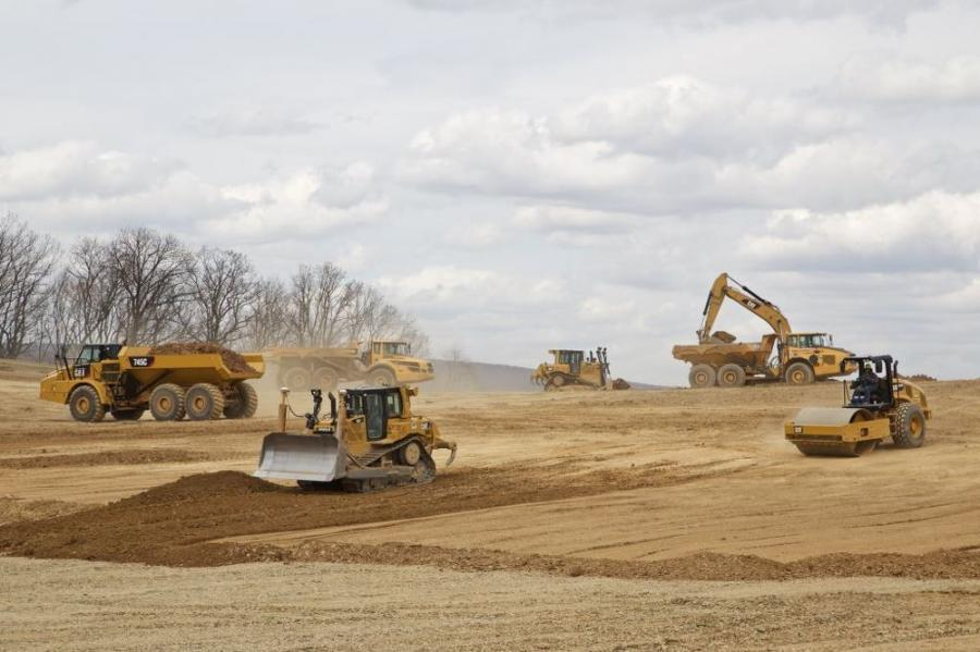 Schlouch performs earthwork at the 2.1M sq. ft. site Hamburg Commerce Park, Berks County, Pa.