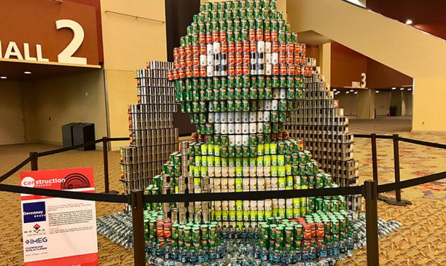 According to Steven Still, co-chair of Phoenix Canstruction, teams start planning their structures at least three months ahead of time, which involves designing, choosing the best cans to use and working with stores to buy the cans.