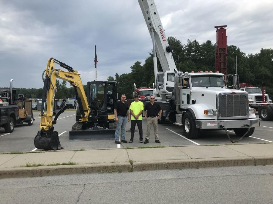 Stephenson Equipment representatives were at the Touch-A-Truck event to display an Elliott boom truck and a Yanmar mini-excavator.
