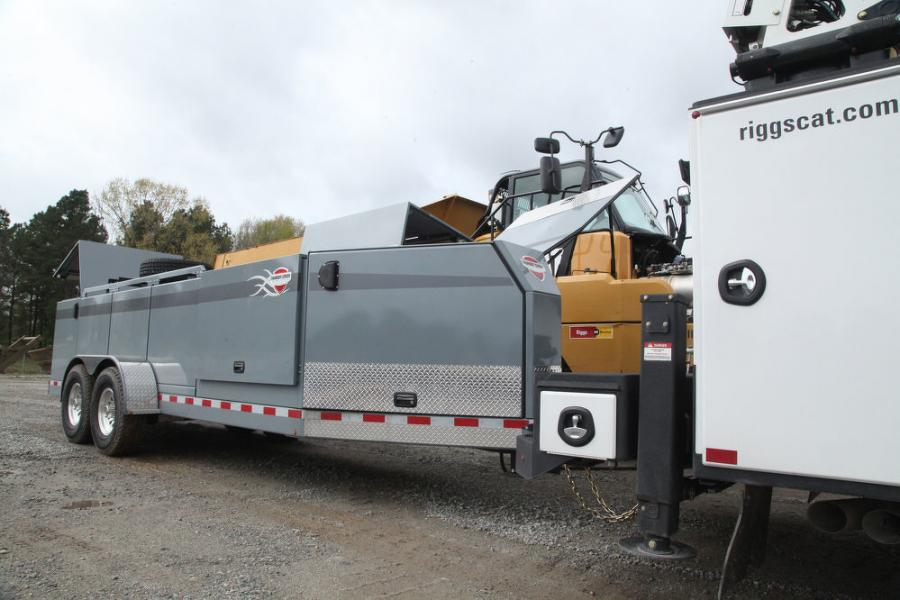 The service and lube trailer from Thunder Creek has allowed Riggs Cat to rely less on more expensive lube trucks.