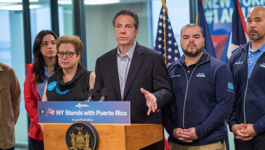 New York Gov. Andrew Cuomo announced the third deployment of volunteers to Puerto Rico.