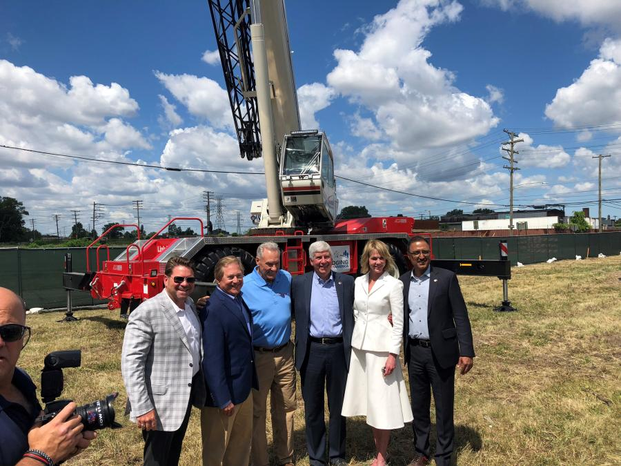 Alta Equipment Company joined local, state, national and international officials and business representatives on July 17 for the official groundbreaking of the new Gordie Howe International Bridge in Detroit.
