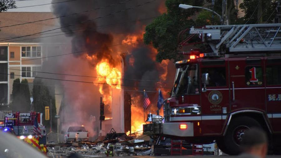 The explosion killed Sun Prairie firefighter Cory Barr and destroyed six buildings downtown. (Jude Lindsay photo)