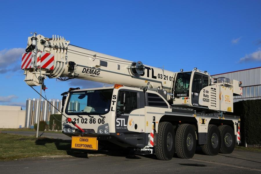 Crane service provider STL, based in Ruitz, Northern France has just added a brand new Demag AC 100-4L all terrain crane to its fleet.