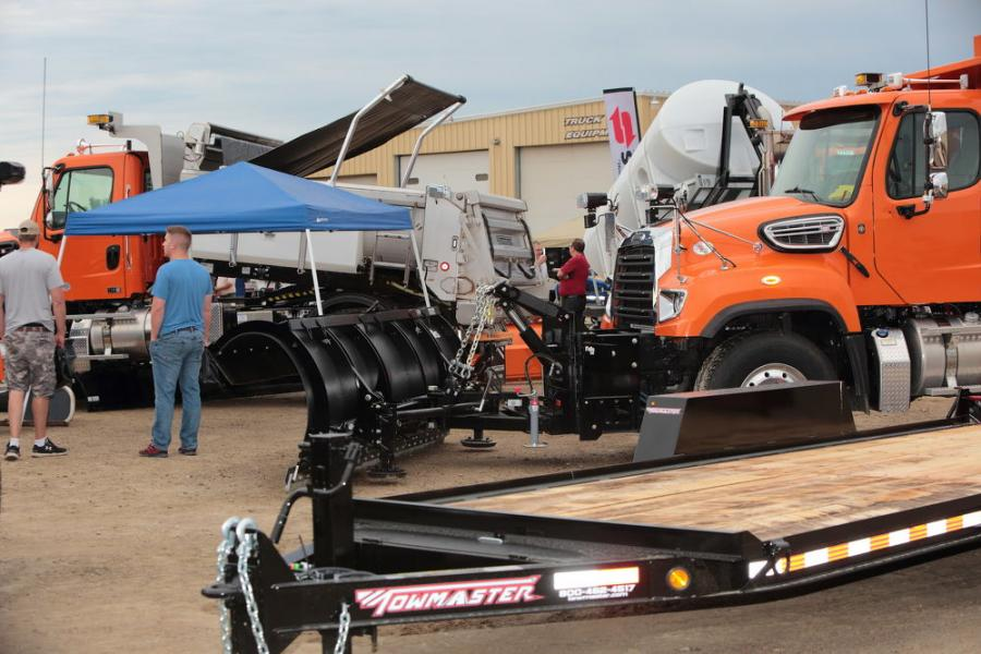 Trucks, trailers, and accessories were the main feature at the expo.