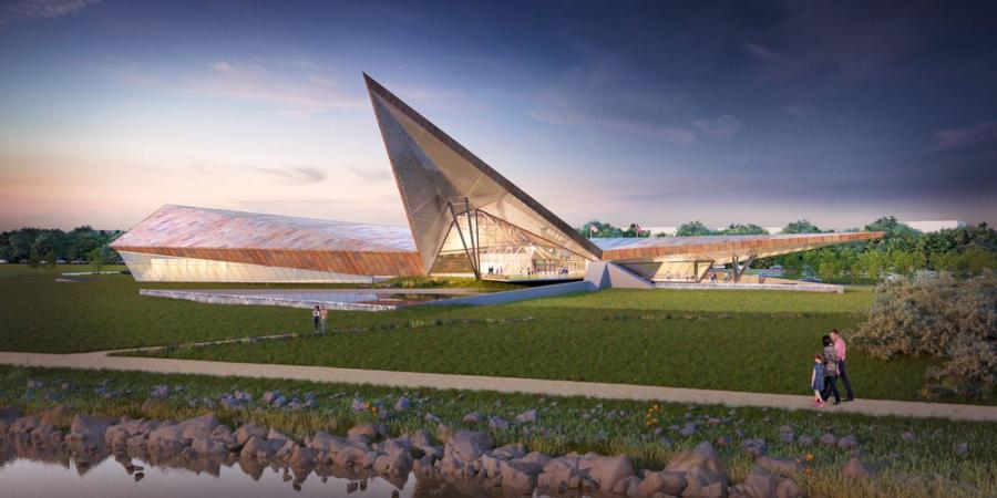 A rendering of the museum.