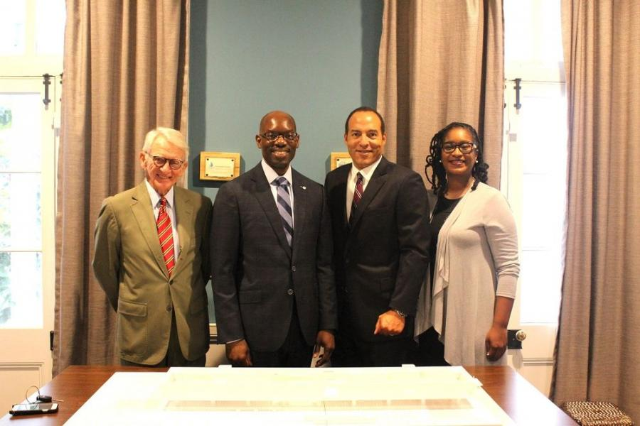 (L to R): Joseph P. Riley, Jr., IAAM Board Member and former Charleston Mayor; Torrence Robinson, Fluor's Senior Director of Global Community Affairs and President of the Fluor Foundation; Michael Boulware Moore, IAAM President and CEO; and Brenda Tindal, IAAM Director of Education and Engagement.