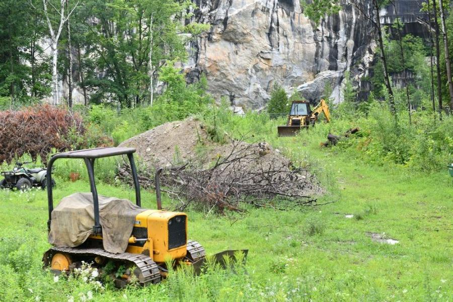 Beyette has been working on the site with his own crew and equipment to clear surrounding trees and create a space where audiences can sit and enjoy music while taking in the beauty of the marble rock face, which will serve as a natural backdrop and centerpiece of the amphitheater. (Photo Credit: the Rutland Herald)