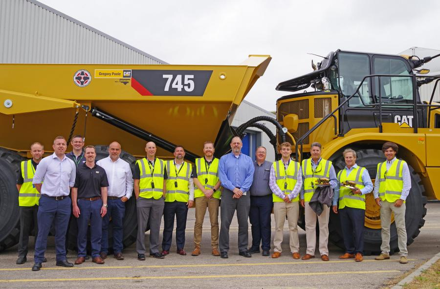 Trader Construction Company of New Bern, N.C., received the 50,000th unit during a ceremony held at the Peterlee facility recently. Carl Huddle, president of Trader, and Gregory Poole Cat dealer representatives were on hand to receive keys to Trader's newest Cat 745, 45.2-ton (41-t) articulated truck.