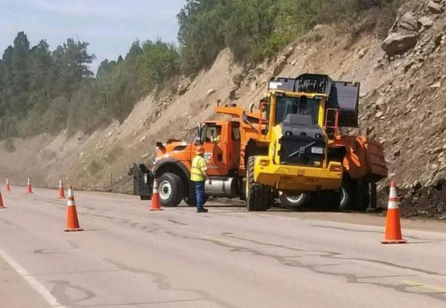 Due to recent rain storms, CDOT maintenance crews have been clearing mud and rocks off highways across Southwest and South-Central Colorado. Work will continue, especially as more flash flood events occur.