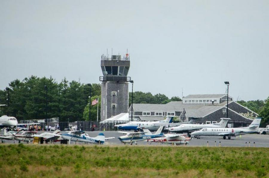 Martha's Vineyard Airport will receive an $11 million grant of to reconstruct the main runway at the airport. (Steve Myrick photo)