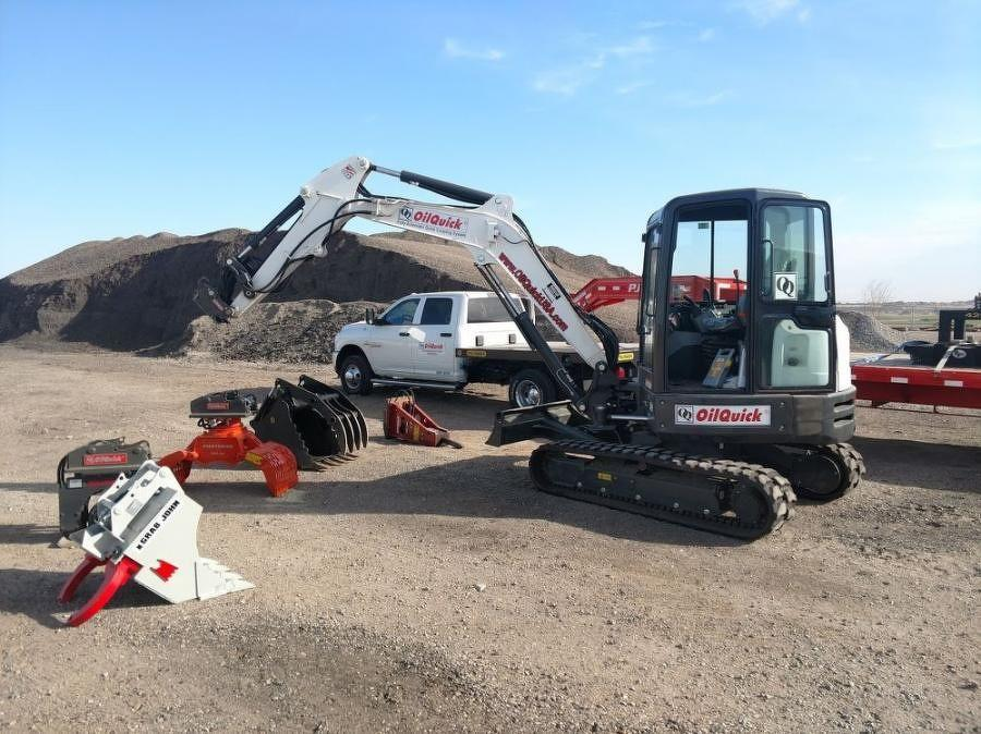 OilQuick is an automatic quick coupler system for excavators, which allows various mechanical and hydraulic work tools to be connected and disconnected without leaving the operating cab.