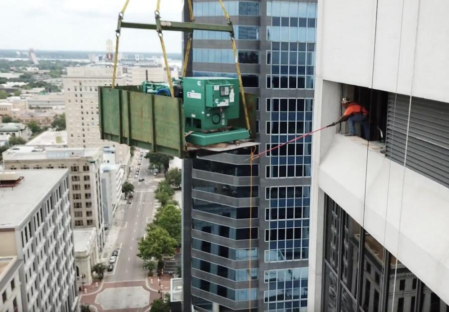 Sims Crane client Zabatt Power Systems relied on Sims for a turn-key job including the crane and all equipment, a 3D lift plan, rigging, road closures and detours, and all personnel.