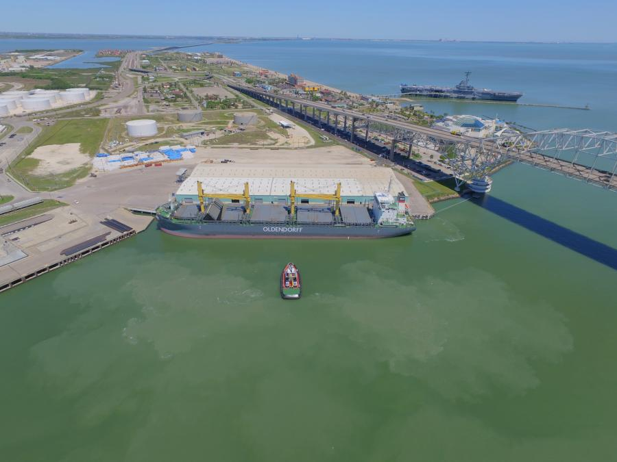 The Port of Corpus Christi sold $216.2 million of Senior Lien Revenue Bonds to be used for both the deepening and widening of the Corpus Christi Ship Channel, as well as upcoming capital projects within the Port. (Port of Corpus Christi photo)