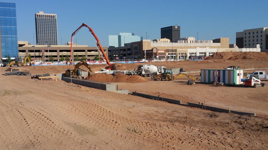 On March 1, work on the stadium officially started, as excavators began moving dirt from the construction site in preparation for the planned baseball park. (Jerry Danforth, City of Amarillo photo)
