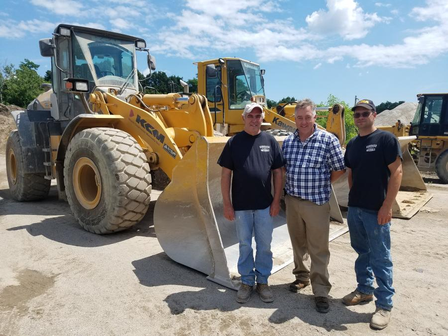 (L-R): Norman K. Kurrass, Gary Wade of All Island Equipment, and Norman L. Kurrass.