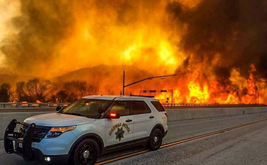 Federal emergency funding is now available for emergency work and the repair or replacement of facilities damaged by the wildfires. (California Transportation Commission Twitter photo)