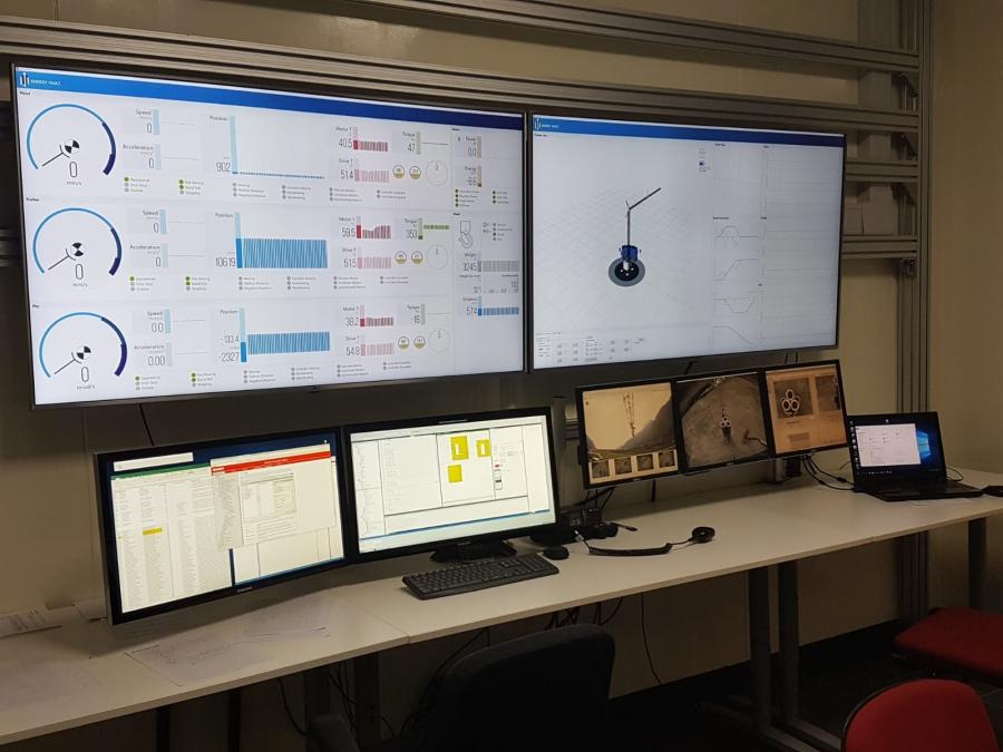 A glimpse at Energy Vault's control room.