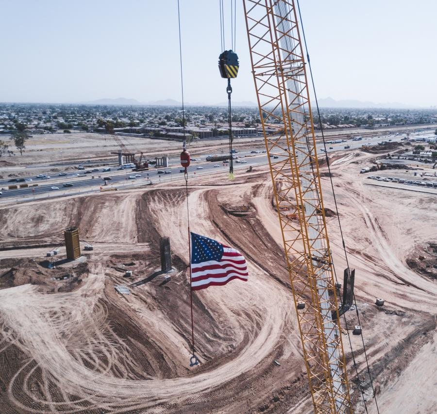 The Loop 202 (South Mountain Freeway) will add 22 mi. of freeway to the existing Phoenix metropolitan transportation system. The freeway will connect the east and west valley while providing much needed relief to existing freeway corridors and local streets. (Arizona Department of Transportation photo)