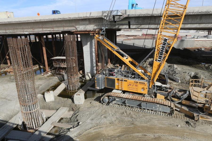 Crews have demolished much of the original bridge, a lift-span structure built in 1948.