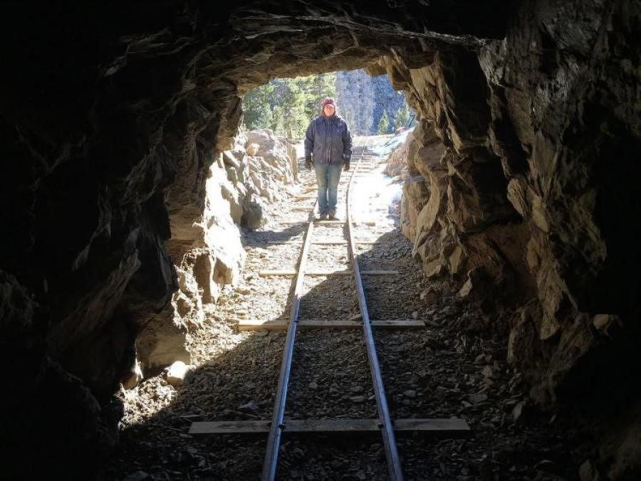The tunnel was constructed largely by hand, with workers using picks, shovels and gun powder to excavate about 3 ft. of tunnel a day.