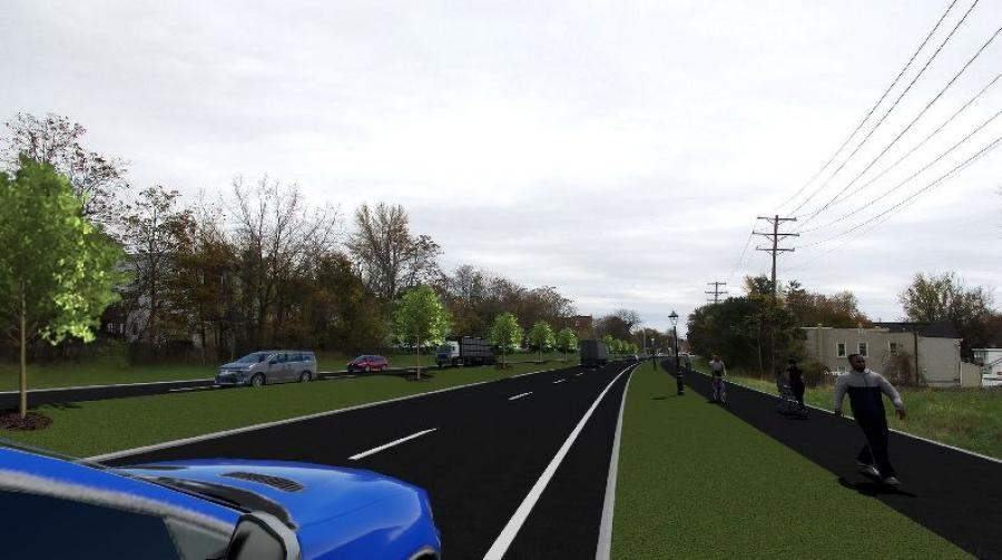The project will restore the connection between the east and west sides of the city of Cohoes with a roadway featuring updated crosswalks and a landscaped median.